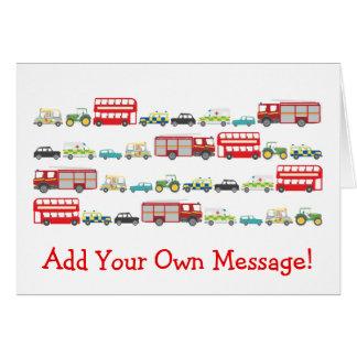 British Traffic Jam Personalised Card