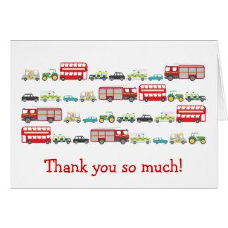 British Traffic Jam Thank You Card