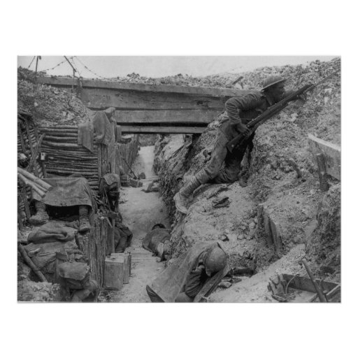 British Trench During the Battle of the Somme Print