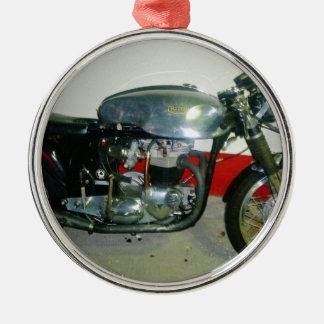 British Triton Motorcycle. Christmas Ornament