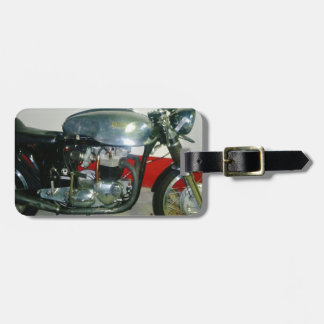 British Triton Motorcycle. Luggage Tag