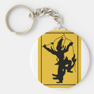 British Troops in Siam Basic Round Button Key Ring
