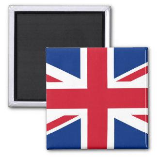 British - UK - Great Britain - Union Jack flag Square Magnet