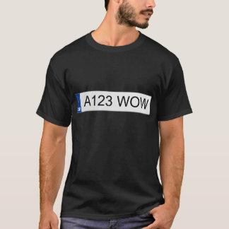 British (UK) Number Plates T-Shirt