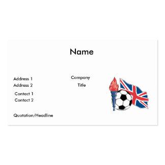 british UK soccer pride Pack Of Standard Business Cards