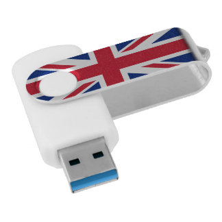 British UK United Kingdom Union Jack Flag Swivel USB 3.0 Flash Drive
