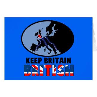 British UKIP Card