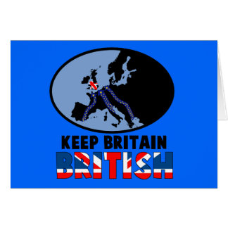 British UKIP Greeting Card