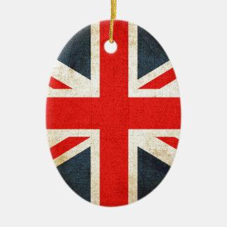 British Union Flag Ceramic Oval Decoration