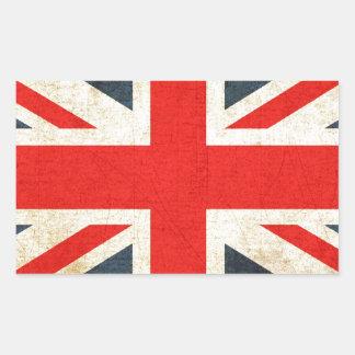 British Union Flag Rectangular Sticker
