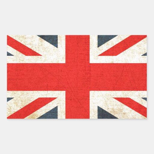 British Union Flag Rectangular Stickers
