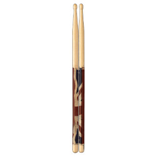 British Union flag Union Jack patriotic design Drumsticks