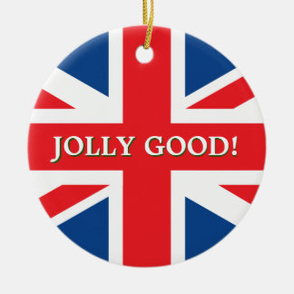 British Union Jack Double-Sided Ceramic Round Christmas Ornament