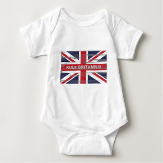 British Union Jack Flag Baby Bodysuit