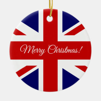 British Union Jack flag Christmas tree ornament