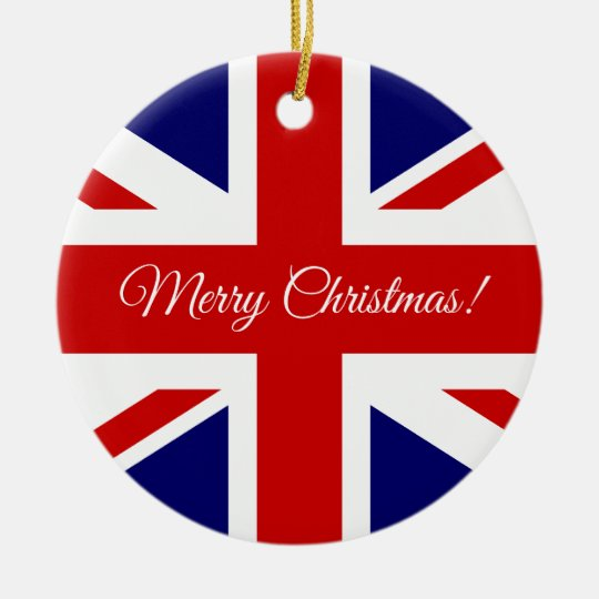 British Union Jack flag Christmas tree ornament