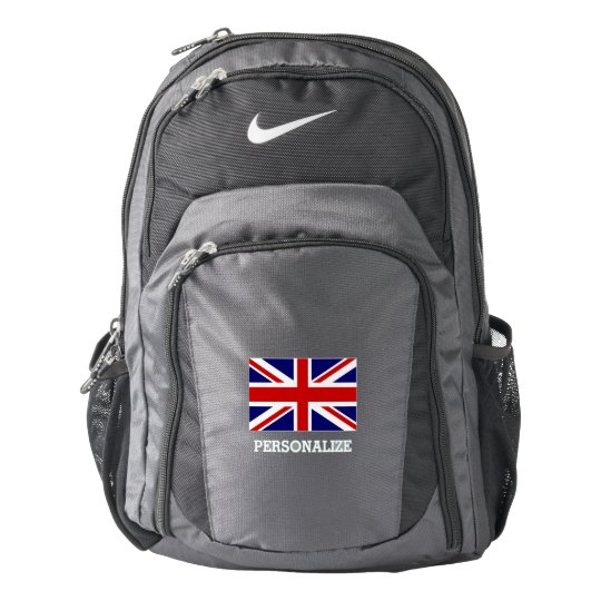 British Union Jack flag custom Nike backpack
