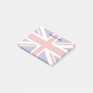 British Union Jack flag design Personalized Post-it Notes