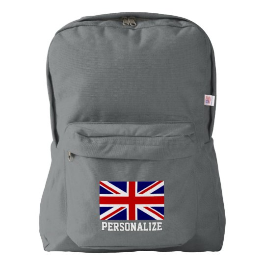 British Union Jack flag English pride personalised Backpack