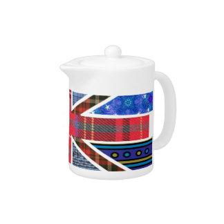 British Union Jack Flag of Tartan & Fabric pattern