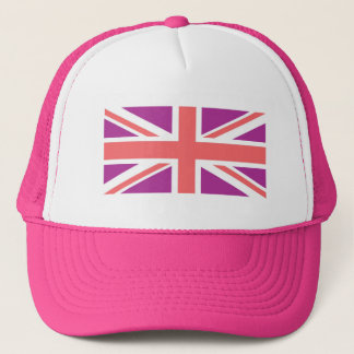British Union Jack flag on cap