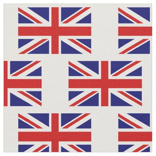 British Union Jack flag pattern DIY fabric textile
