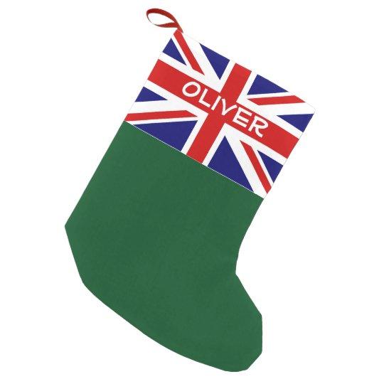 British Union Jack flag personalised Holiday Small Christmas