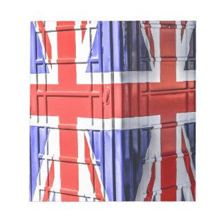 British Union Jack Flag Phone Box Notepad