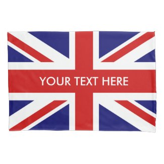 British Union Jack flag pillowcase