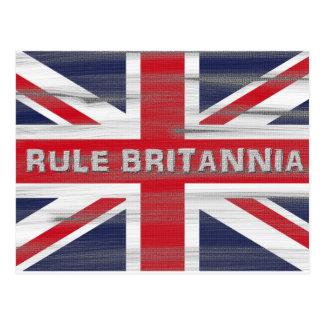 British Union Jack Flag Postcard