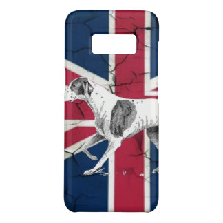 British union jack flag Retro English pointer dog Case-Mate Samsung Galaxy S8 Case