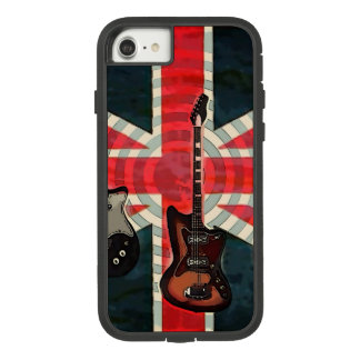British Union Jack Flag Rock Roll Electric Guitar Case-Mate Tough Extreme iPhone 8/7 Case