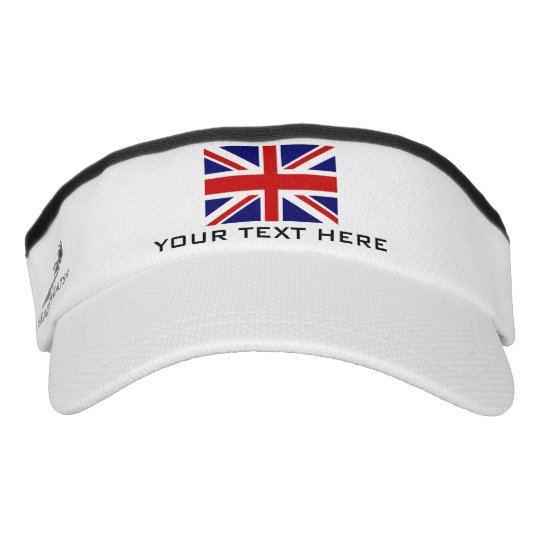 bc0fc8bdf8d British Union Jack flag sports sun visor cap hat
