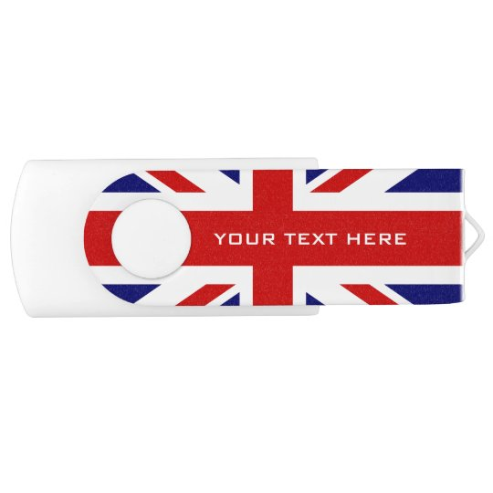British Union Jack flag swivel USB flash drive