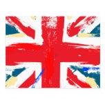British Union Jack Flag Vintage Worn Postcards