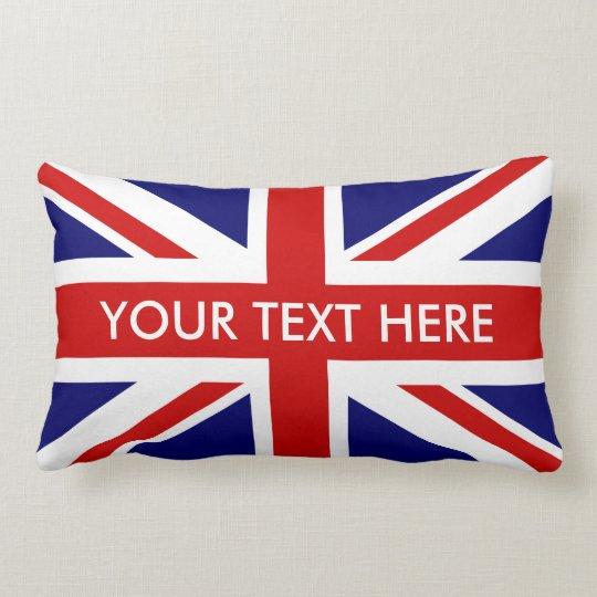 British Union Jack lumbar throw pillows