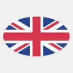 British Union Jack Oval Sticker