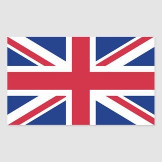 British Union Jack Rectangular Sticker