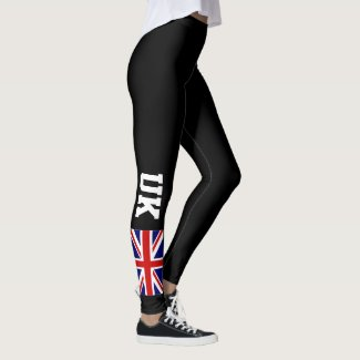 British Union Jack UK flag custom sports leggings