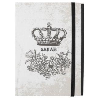 "British Victorian Floral Crown Stylish Vintage iPad Pro 12.9"" Case"