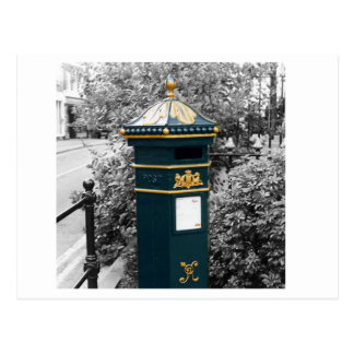 British Victorian pillar box - 1866 Postcard