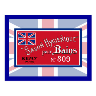 British Vintage Soap Label Postcard