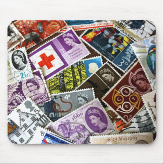 British Vintage Stamps Mousepad