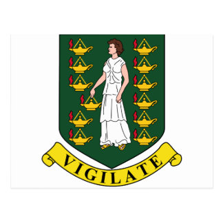 British Virgin Islands Coat Of Arms Postcard