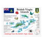 British Virgin Islands Map Postcard