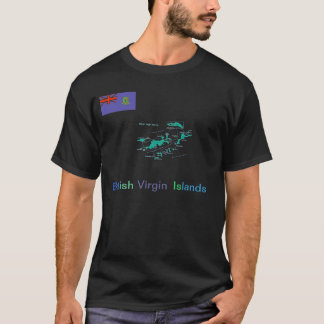 British Virgin Islands Map Tee's T-Shirt