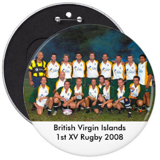 British Virgin Islands Rugby Buttons