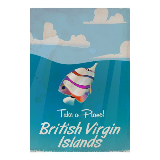 British Virgin Islands Vintage vacation Poster