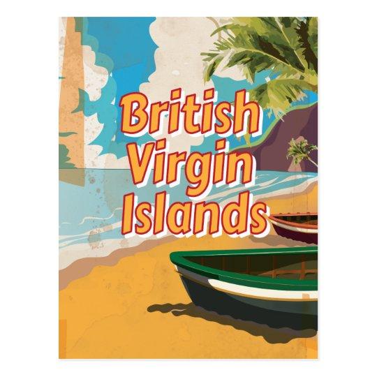 British Virgin Islands Vintage vacation Poster Postcard