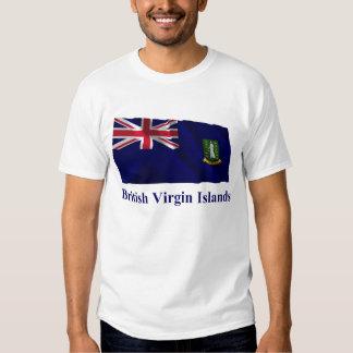 British Virgin Islands Waving Flag with Name Shirts